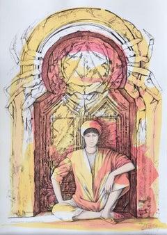 Cancer - Original Hand-Colored Lithograph by A. Quarto - 1985