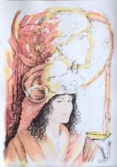 Aries - Original Hand-Colored Lithograph by A. Quarto - 1985