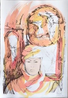 Capricorn - Original Hand-Colored Lithograph by A. Quarto - 1985