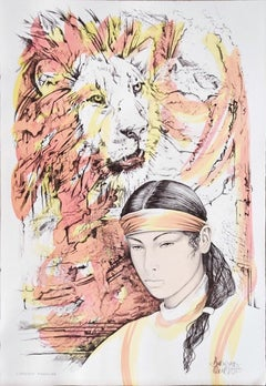 Leo - Original Hand-Colored Lithograph by A. Quarto - 1985