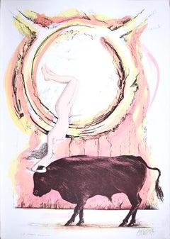 Taurus - Original Hand-Colored Lithograph by A. Quarto - 1985