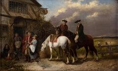 A Wayside Inn - Original Oil Painting by A. Castelli - 1881