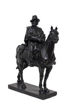 Garibaldi Riding a Horse - Original Bronze Sculpture by Carlo Rivalta