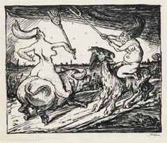 Walpurgis Nacht - Original Drawing by A. Kubin - 1920