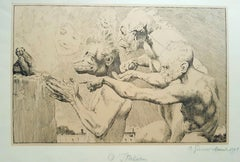 O Italien - Original Lithograph by Otto Greiner - 1915
