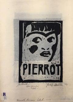 Lieder des Pierrot Lunaire - Complete Suite by Conrad Felixmüller  - 1910s