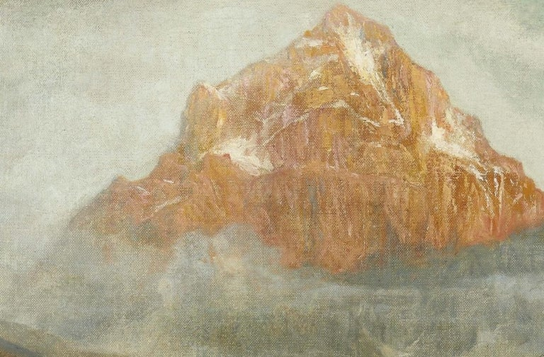 Mountain Landscape - Original Oil on Canvas by G. Giani - 1911 - Naturalistic Painting by Giovanni Giani