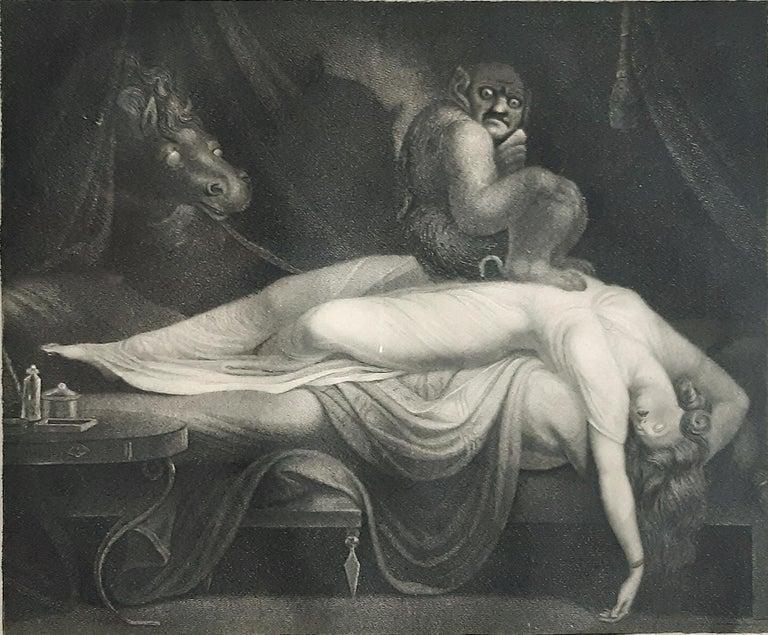 Johann Heinrich Fussli (After) Interior Print - The Nightmare - Original Etching by Laurède After J.H. Fussli - 1782