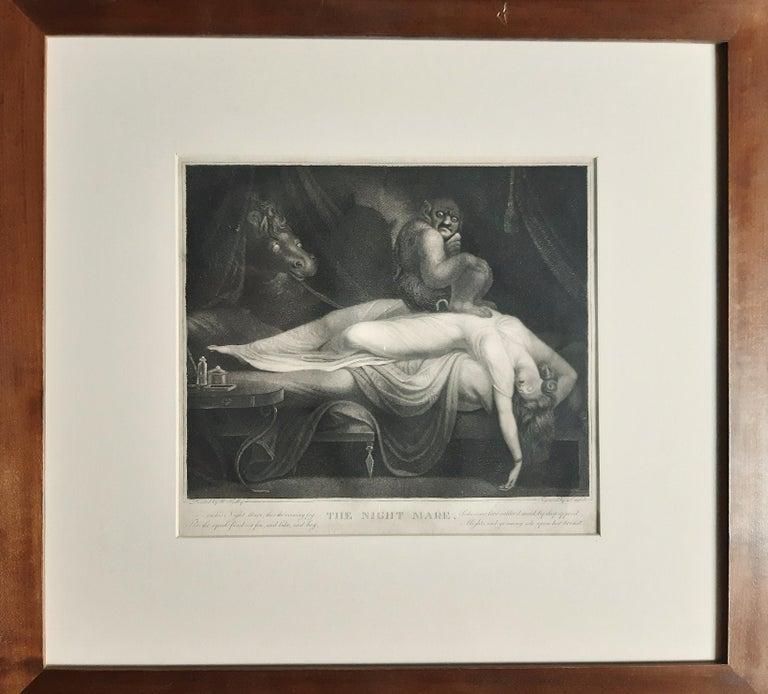 The Nightmare - Original Etching by Laurède After J.H. Fussli - 1782 - Print by Johann Heinrich Fussli (After)