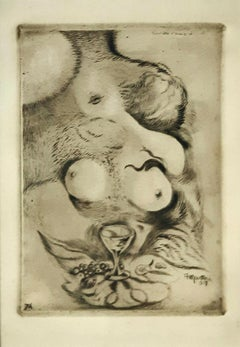 Banchetto d'Amore - Original Etching by A. Martini - 1917