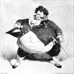 A Victim of the Old System - Original Lithograph by Henri Monnier - 1834