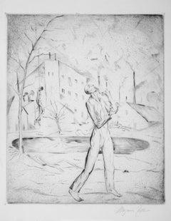 Selbstmörder - Original Etching and Drypoint by Magnus Zeller - 1919