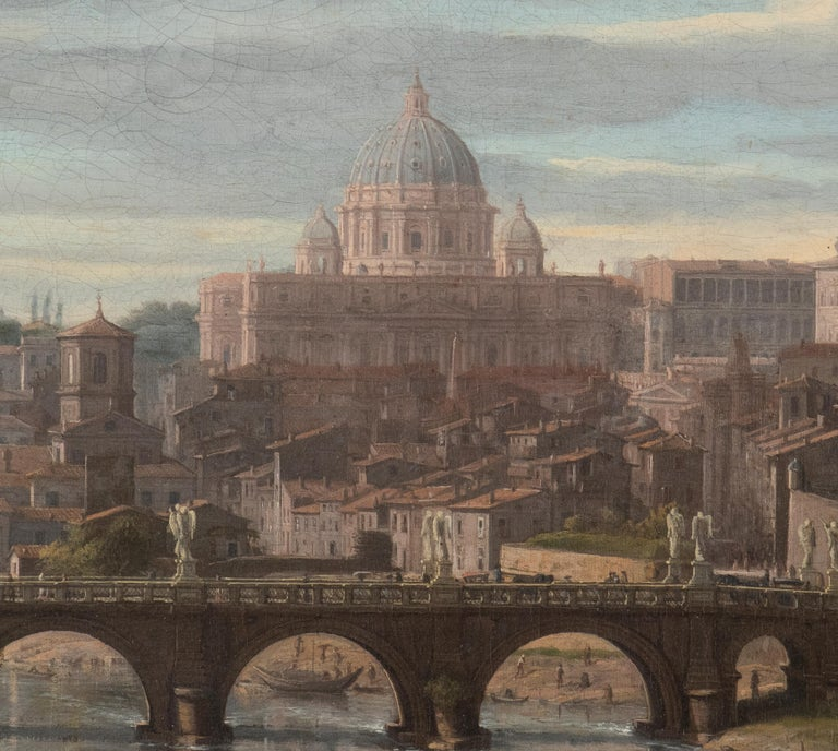 View of the Tiber, looking toward Castel Sant'Angelo and Saint Peter's Basilica  For Sale 1