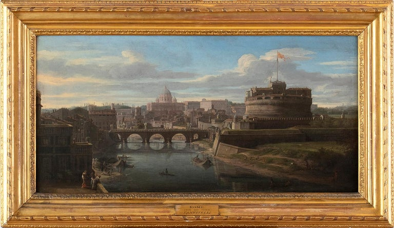 View of the Tiber, looking toward Castel Sant'Angelo and Saint Peter's Basilica  For Sale 3