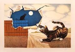 Day and Night - Original Lithograph by G. Giuggioli - 1980