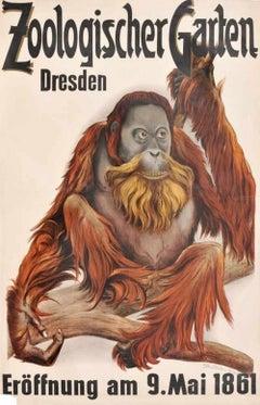 Dresden Zoological Garden - Offset Print After Etha Richter - 1960s
