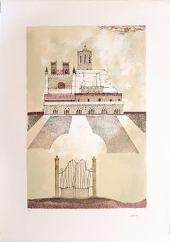 Cathedral of Tarragona - Original Lithograph by Ossi Czinner - 1970s