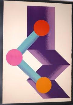 Untitled - Original Lithograph by Kumi Sugai - 1970
