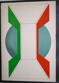 Untitled - Original Lithograph by Kumi Sugai - 1970s