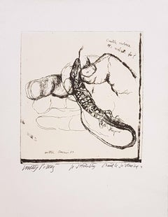 Unnecessary Violence - Original Etching by Walter Piacesi - 1970