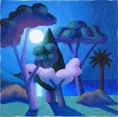 Moonlight - Original Oil on Canvas by Salvo - 2008