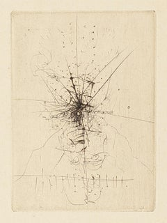 Untitled - Original Etching After Wols - 1956