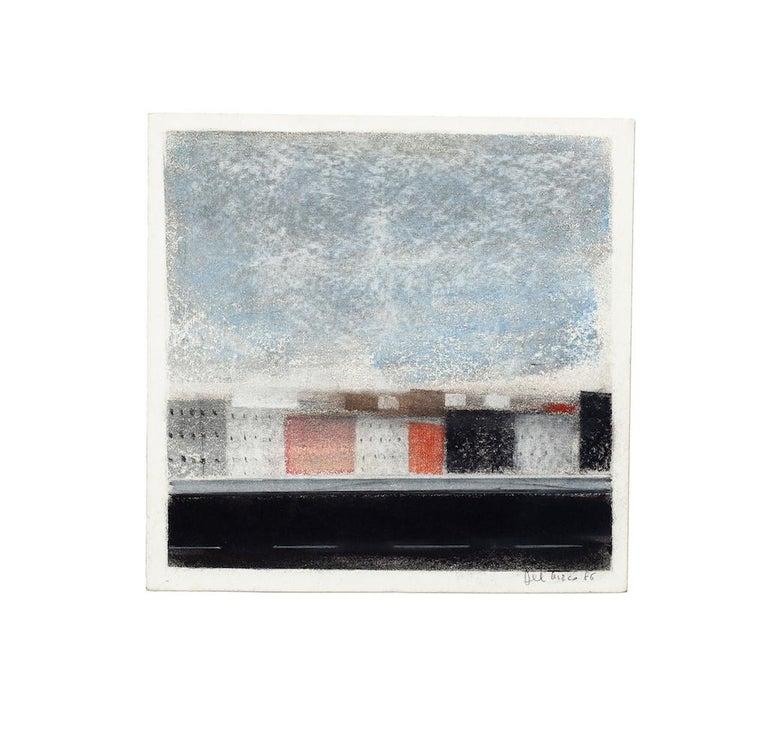 Landscape - Original Pastel Drawing by O. Del Turco - 1986 - Art by Ottaviano Del Turco