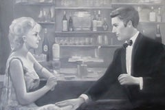 Gentleman Cambrioleur - Original Oil on Canvas by G. Montesano - 2004