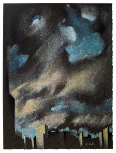 Landscape - Original Lithograph by B. Kelly - 1980s