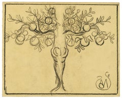 Fruit Tree - Charcoal on Paper by A. Mérodack-Jeanneau