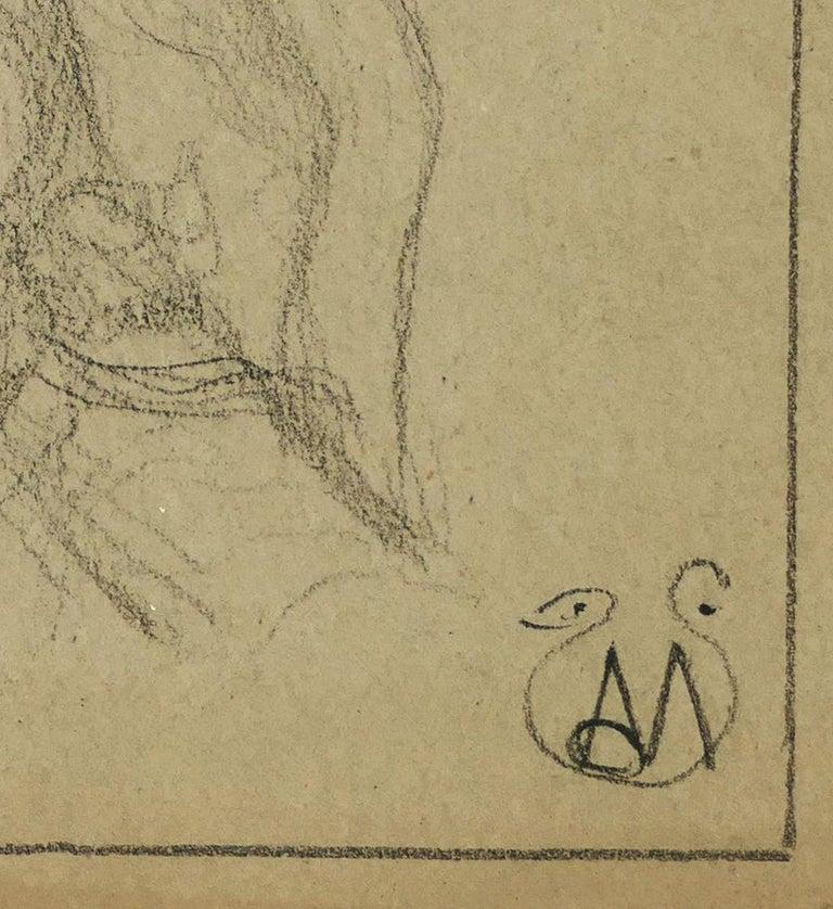 Woman Bust - Pencil on Paper by A. Mérodack-Jeanneau - Art by Alexis Mérodack-Jeanneau