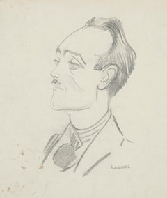 Portrait - Pencil on Paper by Willem Van Hasselt - Mid 20th Century