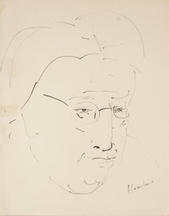 Faces - Four Original China Ink Drawings by Unknown Master 20th Century