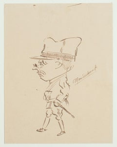 Militaire - China Ink Drawing - 1915