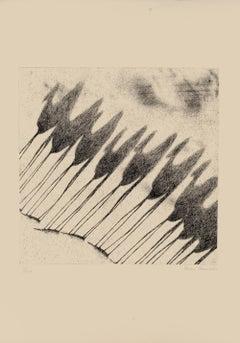 Shadow of Camels - Original Etching by Tullio Diamanti - 1980 ca.