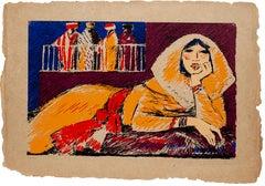 Salima - Original Screen Print by S. Fiume - 1980