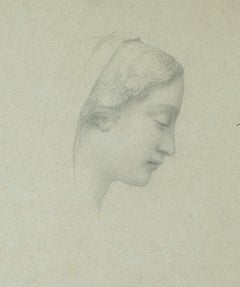 Portrait of Woman - Pencil  Drawing - Early 20th Century