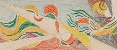 Futurist Composition - Pastel Drawing - Early 20th Century