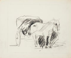 Horse - China Ink Drawing - Mid 20th Century