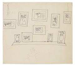 Exhibition - Original Pen Drawing - Mid 20th Century