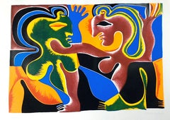 Lovers - Original Screen Print by Fritz Baumgartner - 1970 ca.