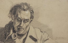 Portrait - Pencil Drawing by Pierre Daboval - Late 20th Century