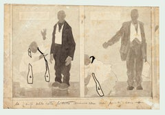 Figures - Ink,Pencil and Watercolor Drawing by G. Galantara - Early 20th Century