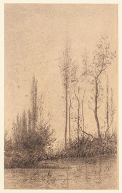 Landscape - Charcoal and Pencil by E.-L. Minet - 1919