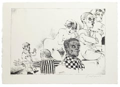 Excluded - Original Etching by Bruno Caruso - 1980s