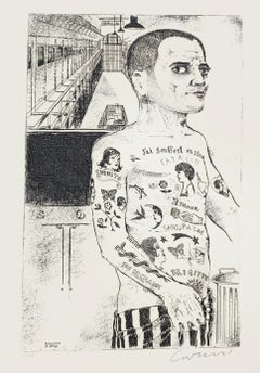 Branded for Life - Original Etching by Bruno Caruso - 1980s
