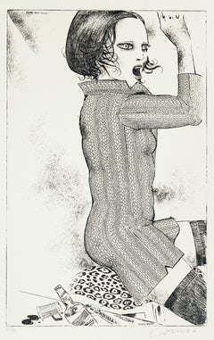 Out of the Rules - Original Etching by Bruno Caruso - 1980s