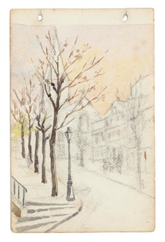 Trees - Watercolor by French Master - Mid 20th Century