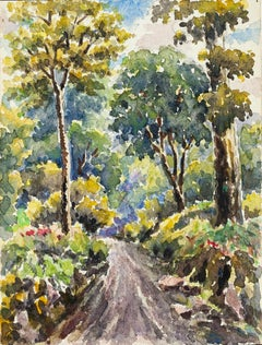 Forest - Watercolor by French Master - Mid 20th Century