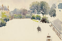 Boats - Watercolor by French Master - Mid 20th Century